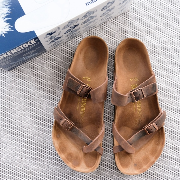 Birkenstock Mayari in Oiled Leather Habana